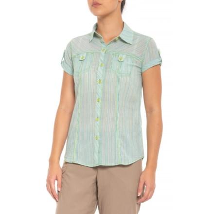 334820cc62fd0 Royal Robbins Camper Summer Stripe Shirt - Short Sleeve (For Women) in  Emerald -
