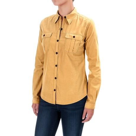 Royal Robbins Cascade Corduroy Shirt - Long Sleeve (For Women) in Chamois