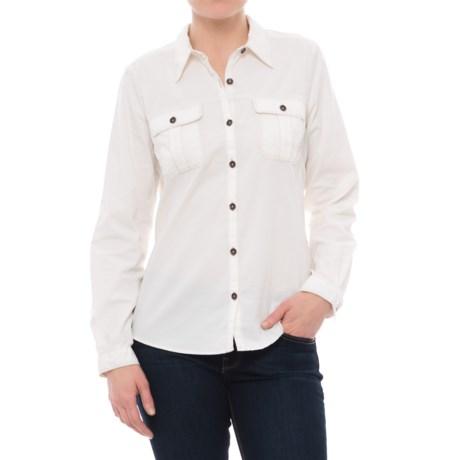Royal Robbins Cascade Corduroy Shirt - Long Sleeve (For Women) in Creme