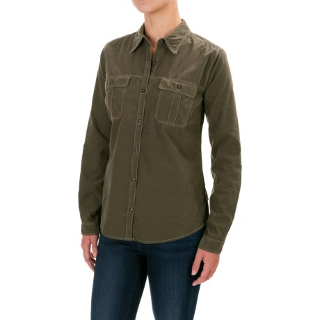 Royal Robbins Cascade Corduroy Shirt - Long Sleeve (For Women) in Laurel
