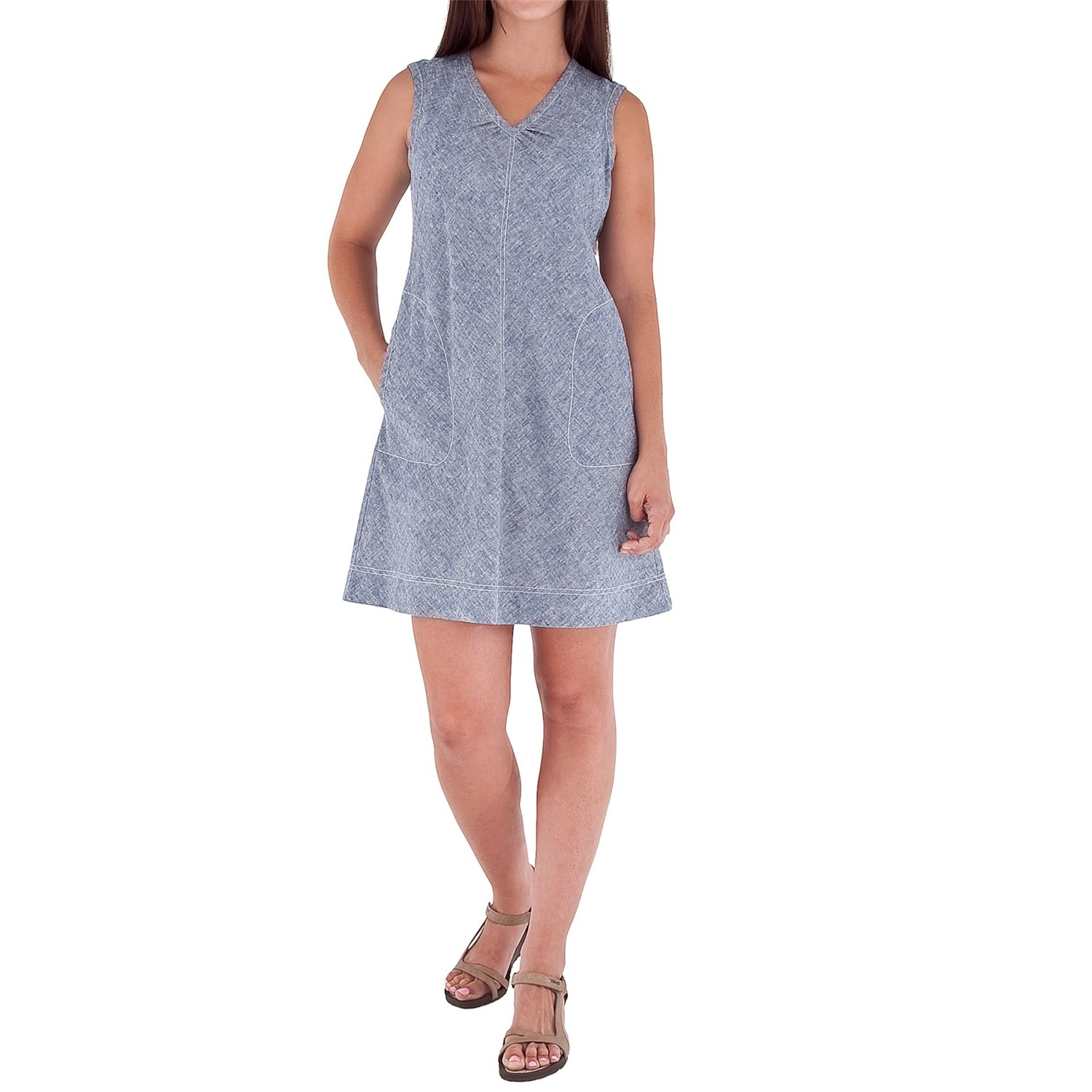 Royal robbins chambray summertime dress for women save 52 for Chambray dress