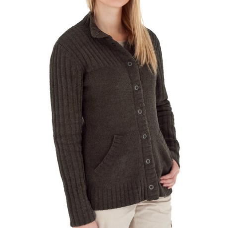 Royal Robbins Chenille Cardigan Sweater (For Women) in Arrowhead