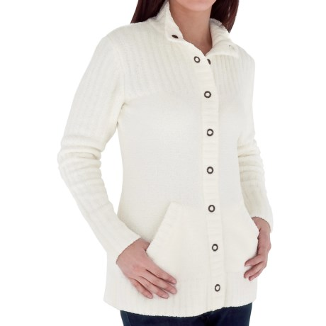 Royal Robbins Chenille Cardigan Sweater (For Women) in Crème