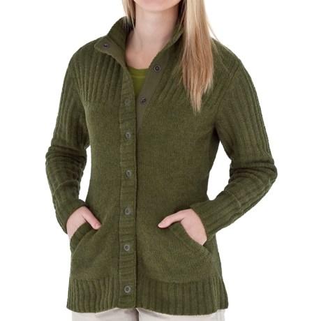 Royal Robbins Chenille Cardigan Sweater (For Women) in Dark Clover