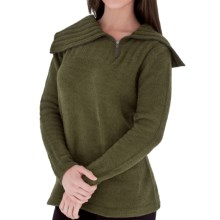 Royal Robbins Chenille Sweater - Zip Cowl Neck (For Women) in Dark Clover - Closeouts