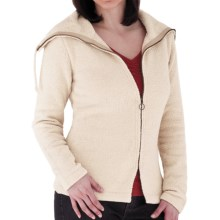 Royal Robbins Chenille Zip-Up Jacket - Cowl Neck, Long Sleeve (For Women) in Sahara - Closeouts