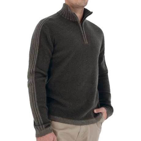 Royal Robbins Clagstone Sweater - Zip Neck, Long Sleeve (For Men) in Charcoal