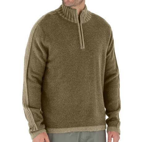 Royal Robbins Clagstone Sweater - Zip Neck, Long Sleeve (For Men) in Timber