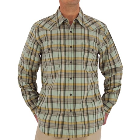 Royal Robbins Clint Plaid Shirt - Long Sleeve (For Men) in Limestone