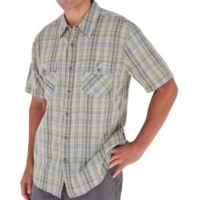 Royal Robbins Clutch Plaid Shirt - Short Sleeve (For Men) in Aloe - Closeouts