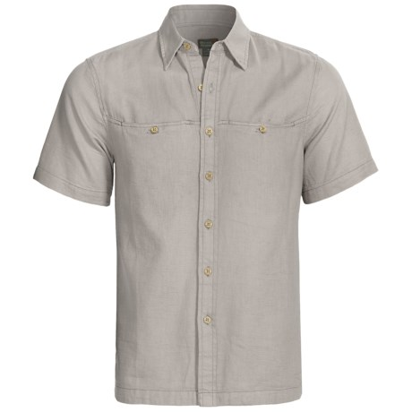 Royal Robbins Contemporary Cool Mesh Shirt - Short Sleeve (For Men) in Soapstone