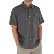 Royal Robbins Cool Mesh Baja Cotton Shirt - UPF 35+, Short Sleeve (For Men) in Obsidian - Closeouts