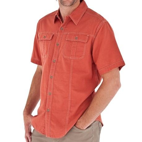 Royal Robbins Cool Mesh Baja Cotton Shirt - UPF 35+, Short Sleeve (For Men) in Santa Fe Clay