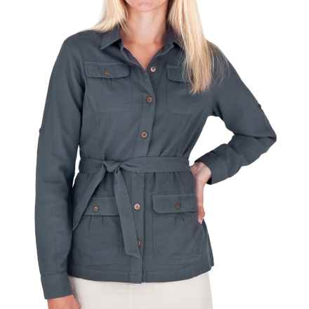 Royal Robbins Cool Mesh Cotton Shirt Jacket - Long Sleeve (For Women) in Slate - Closeouts
