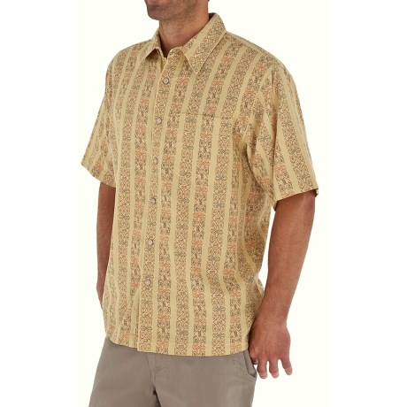 Royal Robbins Cool Mesh Print Shirt - Cotton, Short Sleeve (For Men) in Wheat
