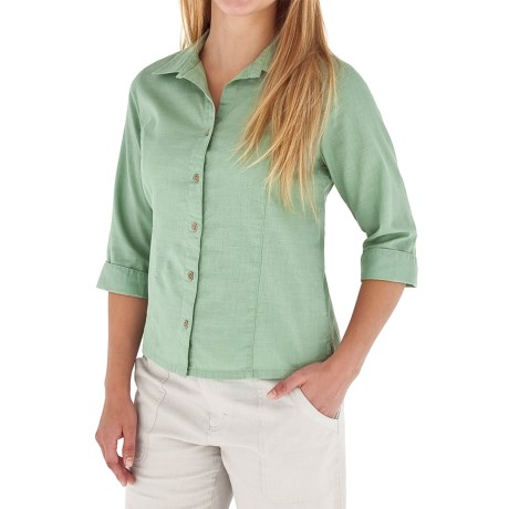 Royal Robbins Cool Mesh Shirt - 3/4 Sleeve (For Women) in Agave