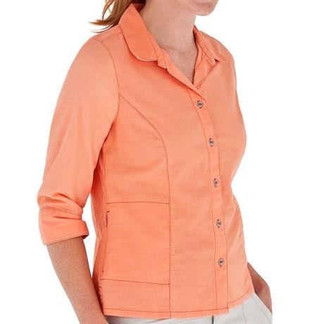 Royal Robbins Cool Mesh Shirt - 3/4 Sleeve (For Women) in Peach