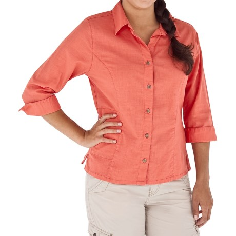 Royal Robbins Cool Mesh Shirt - 3/4 Sleeve (For Women) in Rosehip