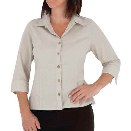 Royal Robbins Cool Mesh Shirt - 3/4 Sleeve (For Women) in Soapstone - Closeouts