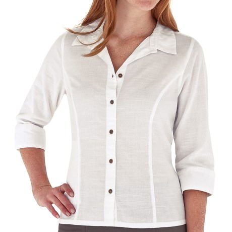 Royal Robbins Cool Mesh Shirt - 3/4 Sleeve (For Women) in White