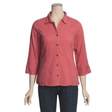 Royal Robbins Cool Mesh Shirt Jacket - 3/4 Sleeve (For Women) in Cranberry - Closeouts