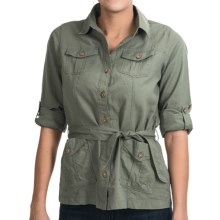 Royal Robbins Cool Mesh Shirt Jacket - Roll-Up Sleeves (For Women) in Canopy - Closeouts