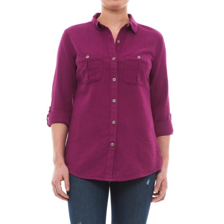 Royal Robbins Cool Mesh Shirt - Long Sleeve (For Women) in Aster