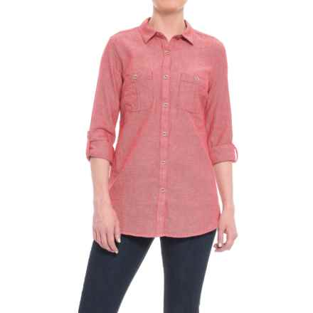 Royal Robbins Cool Mesh Shirt - Long Sleeve (For Women) in Dahlia Red - Closeouts