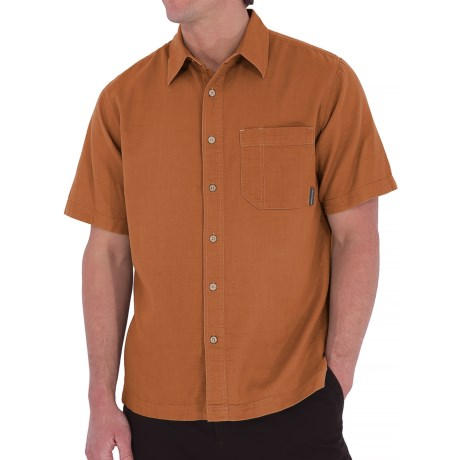Royal Robbins Cool Mesh Shirt - Short Sleeve (For Men) in Acorn