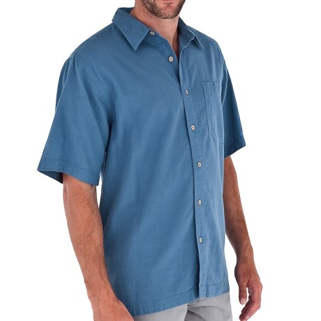 Royal Robbins Cool Mesh Shirt - Short Sleeve (For Men) in Stone Blue