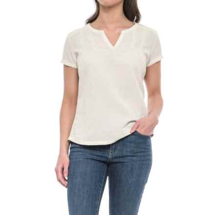 Royal Robbins Cool Mesh Shirt - Split Neck, Short Sleeve (For Women) in Creme - Closeouts