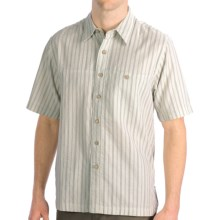 Royal Robbins Cool Mesh Stripe Shirt - Short Sleeve (For Men) in Soapstone - Closeouts