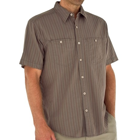 Royal Robbins Cool Mesh Stripe Shirt - Short Sleeve (For Men) in Taupe