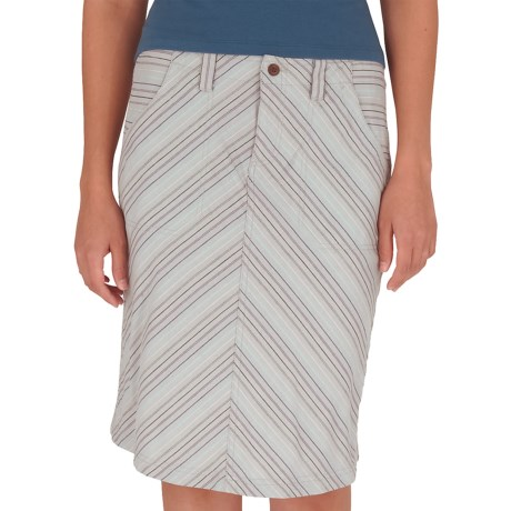Royal Robbins Cool Mesh Stripe Skirt (For Women) in Light Slate