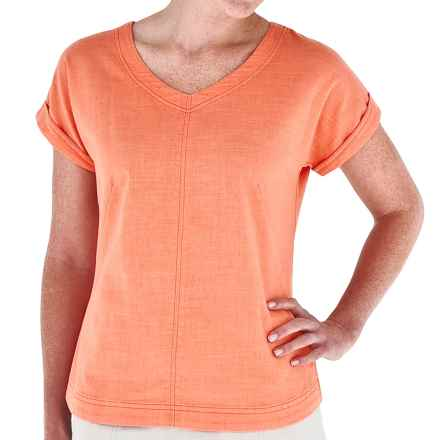 Royal Robbins Cool Mesh T-Shirt - V-Neck, Short Sleeve (For Women) in Peach - Closeouts