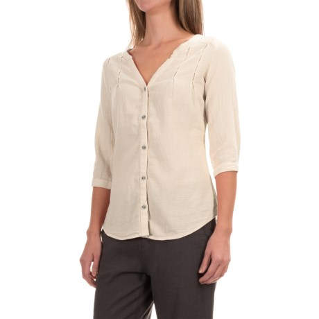 Royal Robbins Cool Mesh Tunic Shirt - 3/4 Sleeve (For Women) in Creme