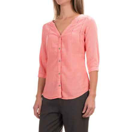 Royal Robbins Cool Mesh Tunic Shirt - 3/4 Sleeve (For Women) in Dark Coral - Closeouts