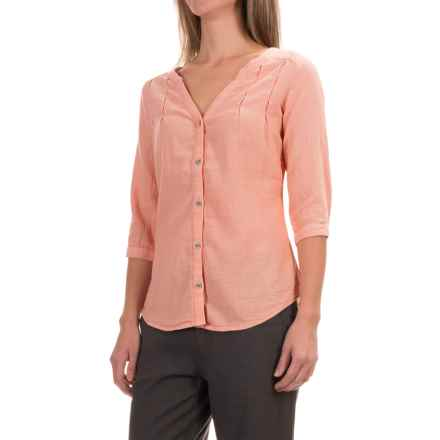 Royal Robbins Cool Mesh Tunic Shirt - 3/4 Sleeve (For Women) in Mai Tai - Closeouts