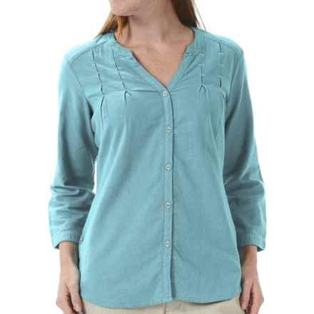 Royal Robbins Cool Mesh Tunic Shirt - 3/4 Sleeve (For Women) in Marine - Closeouts