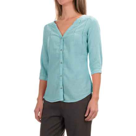 Royal Robbins Cool Mesh Tunic Shirt - 3/4 Sleeve (For Women) in Reservoir - Closeouts