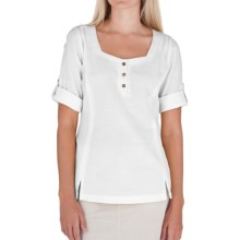 Royal Robbins Cool Mesh Tunic Shirt - 3/4 Sleeve, Roll Tabs (For Women) in White - Closeouts