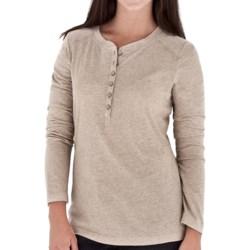 Royal Robbins Cottonwood Henley Shirt - Long Sleeve (For Women) in Orange Pepper