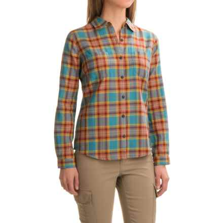 Royal Robbins Cottonwood Plaid Shirt - Long Sleeve (For Women) in Cove - Closeouts