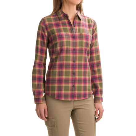 Royal Robbins Cottonwood Plaid Shirt - Long Sleeve (For Women) in Light Berry - Closeouts