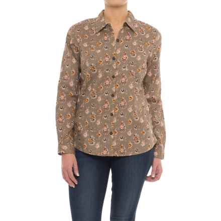 Royal Robbins Cottonwood Printed Shirt - Long Sleeve (For Women) in Light Taupe - Closeouts