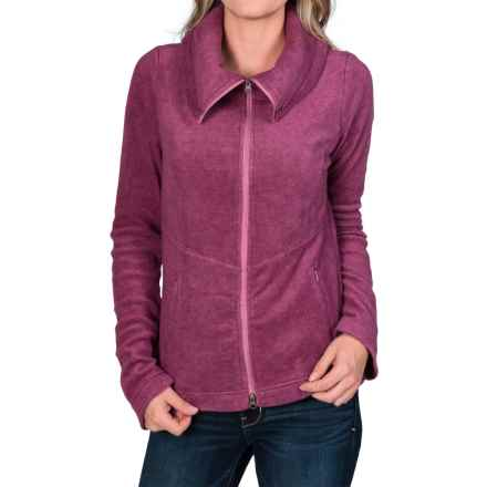 Royal Robbins Departures Fleece Shirt - UPF 50+, Full Zip, Long Sleeve (For Women) in Dark Cranberry - Closeouts