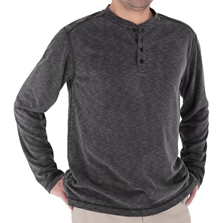 Royal Robbins Desert Knit Henley Shirt - Long Sleeve (For Men) in Charcoal
