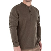 Royal Robbins Desert Knit Henley Shirt - Long Sleeve (For Men) in Turkish Coffee - Closeouts