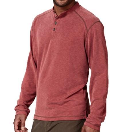 Royal Robbins Desert Knit Henley Shirt - UPF 50+, Long Sleeve (For Men) in Dark Firecracker