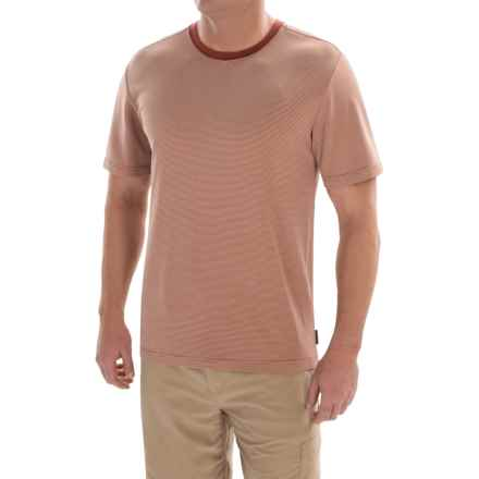 Royal Robbins Desert Knit Micro-Stripe Crew Shirt - UPF 50+, Short Sleeve (For Men) in Morocco - Closeouts